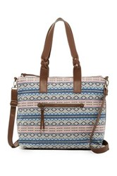 T Shirt And Jeans Printed Tote Blue