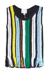 Lala Berlin Sleeveless Crochet Top Multicolored