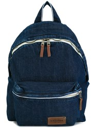 Eastpak Front Pocket Denim Backpack Blue