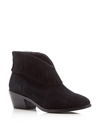 Joie Makena Fringe Booties Black