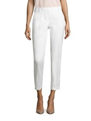 Peserico Solid Cropped Pants White
