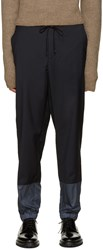 3.1 Phillip Lim Navy Wool Lounge Pants