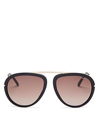 Tom Ford Stacy Sunglasses Rose Gold Matte Black Gradient