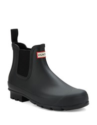 Hunter Chelsea Rain Ankle Boots Black