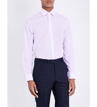 Gieves And Hawkes Tailored Fit Cotton Shirt Lilac
