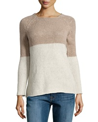 Christopher Fischer Leona Colorblock Knit Sweater Fox Poodle