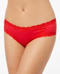 By Jennifer Moore Cotton Lace Trim Hipster Only At Macy's Licorice Red