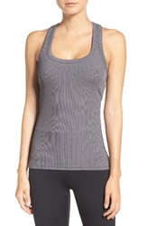 Alo Yoga Women's Support Ribbed Racerback Tank Stormy Heather