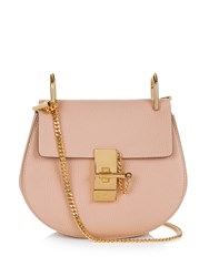 Chloe Drew Mini Leather Cross Body Bag Light Pink