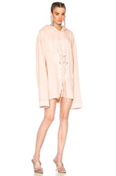 Fenty By Puma Long Sleeve Graphic Lacing Hoodie In Pink
