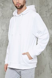 Forever 21 Mesh Knit Hoodie White