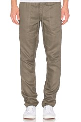 Publish Hash Linen Pants Olive