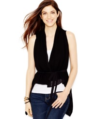 Guess Belted High Low Vest Jet Black