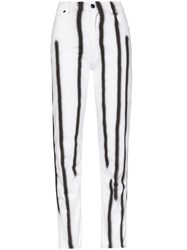 Eckhaus Latta High Waisted Stripe Skinny Trousers 60