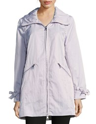 Karl Lagerfeld Packable Zip Front Anorak Jacket Orchid
