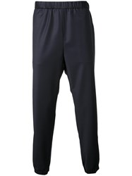 H Beauty And Youth Ribbed Cuff Trousers Blue