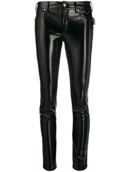 Versace Jeans Couture Skinny Patent Leather Trousers Black