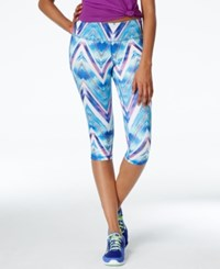 Material Girl Active Juniors' Cropped Printed Leggings Only At Macy's Chevron