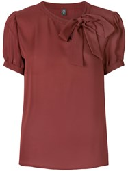 Eleventy Bow Detail Blouse Red