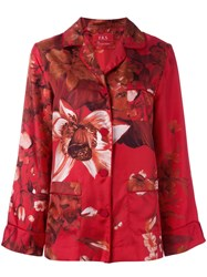 F.R.S For Restless Sleepers Floral Print Pyjama Blouse Red