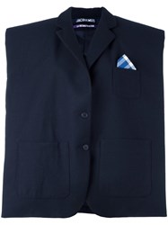 Jacquemus Structured Oversized Jacket Blue