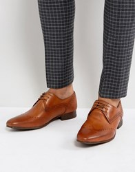 Hudson H By Erato Leather Brogue Shoes In Tan