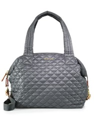 M Z Wallace Sutton Large Quilted Nylon Crossbody Bag Dark Grey