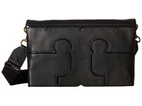 Tory Burch Serif Leather Crossbody Black Cross Body Handbags