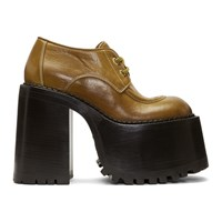 Marc Jacobs Tan Gloria Platform Derbys