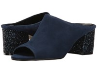 Ivanka Trump Evia 4 New Navy Savoy Suede Women's Shoes Blue