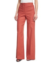 Theory Terena High Waist Wide Leg Pants Red