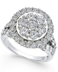 Macy's Diamond Round Cluster Halo Ring 2 1 2 Ct. T.W. In 14K White Gold