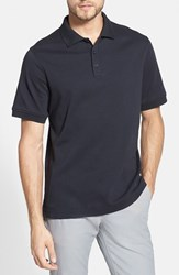Men's Nordstrom Regular Fit Interlock Knit Polo Black Jet