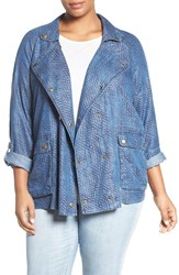 Tart Plus Size Women's 'Syden' Double Breasted Chambray Jacket