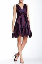 Eva Franco Gabby Stripe Dress Purple