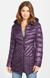 Petite Women's Bernardo Packable Hooded Down And Primaloft Fill Parka Grapevine