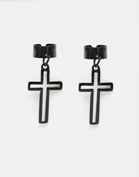 Designsix Cross Ear Cuffs Black