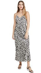 Anine Bing Rosemary Slip Dress Leopard