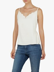 Ted Baker Siina Scallop Detail Camisole Ivory