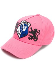 Dsquared2 Lion Patch Baseball Cap Pink Purple