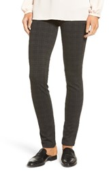 Nydj Women's Stretch 'Jodie' Ponte Leggings Houndstooth Tartan Print