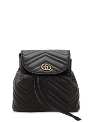 Gucci Mini Gg Marmont Leather Backpack Black