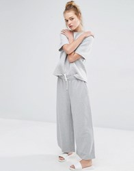Monki Wide Leg Lounge Pant Grey