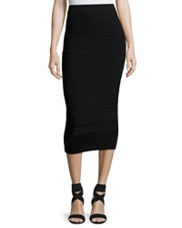 Cushnie Et Ochs Graduated Knit Pencil Skirt Black