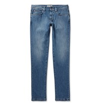 Loro Piana Slim Fit Stretch Denim Jeans Mid Denim