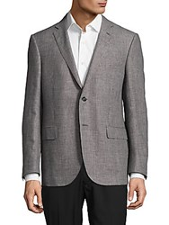 Corneliani Houndstooth Wool Blend Jacket Dark Grey