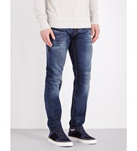 True Religion Rocco Slim Fit Tapered Jeans Midnight Clouds