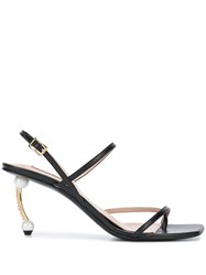 Coliac Embellished Heel Sandals Black