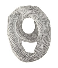 Calvin Klein Shaker Stitch Cable Infinity Heathered Mid Gray Scarves Black