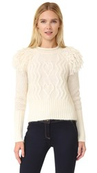 Temperley London Cutlass Jumper Ivory